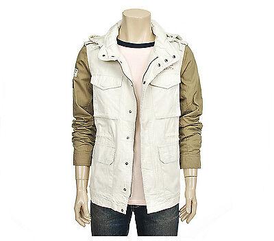 Em Polham Mens Casual Two Tone Sleeves Flap Pocket Jacket Jumper Size M NWT