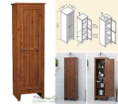 خزانة جديد Kitchen Pantry Cabinet Storage Organizer Wood Shelves Cupboard Tall Furniture