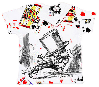 Dirty Fingers Baby T-Shirt All Over Print Alice in Wonderland Mad Hatter ()