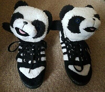 2011 Adidas Jeremy Scott Panda Bear Rare Originals UK Size 5 Black White Jedward
