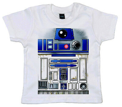 "Star Wars Baby T-Shirt ""R2D2"" Boy Girl Tee Robot Design Funny Clothes"