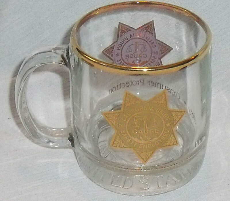 California Union of Safety Employees Mug Cup CAUSE Glass 3.5""