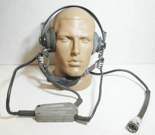 Headset Soviet Russian Vintage Military Radio Headphones TA-56M Microphone USSR