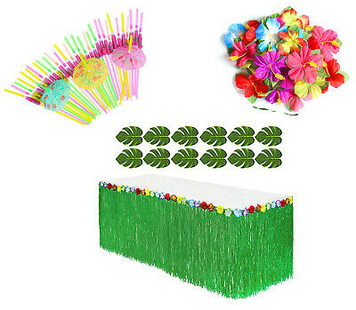85pcs Tropical LUAU BEACH PARTY Supplies Hawaiian Graduation Decorations SET