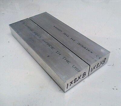 2 Pc 1 X 2 New 8 Long 6061 T6511 Solid Aluminum Plate Flat Bar Stock Block