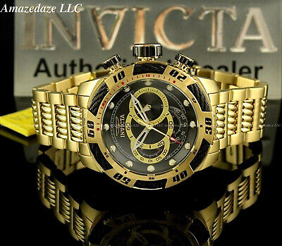 Invicta Men 50mm Speedway Viper GenIII Chronograph Stainless St BLACK DIAL Watch