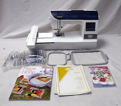 BABY LOCK EMORE EMBROIDERY MACHINE W/ MANUAL & EXTRAS