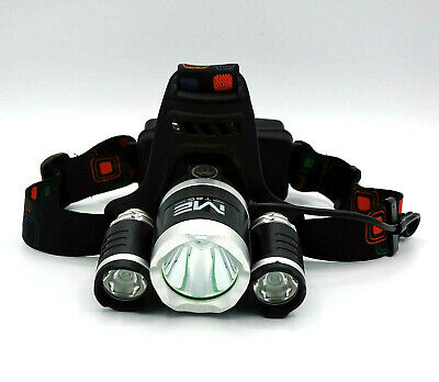 **Premium** High Power LED Stirnlampe 12000 LM inkl. 2 Akku Kopflampe sehr hell  - Premium Power Akku