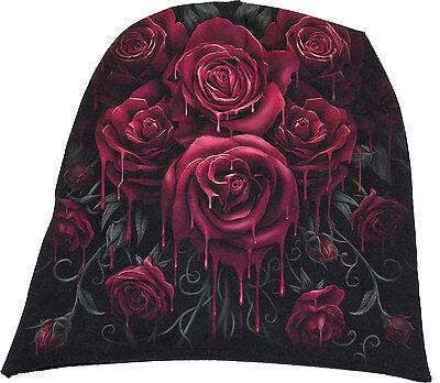 Rose Beanie Hat - Spiral Direct BLOOD ROSE Beanie Beanies/Music/floral/Rock/Metal/flower/Biker/Hat