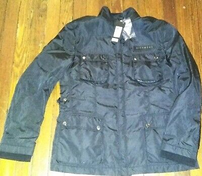 NWT $1100 John Richmond X Coats Black & Jackets L 52