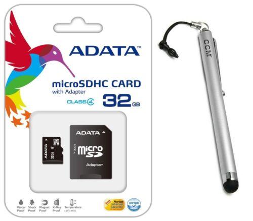 Adata 32GB MicroSD Micro SD Flash Class 4 Memory Card+ Stylu