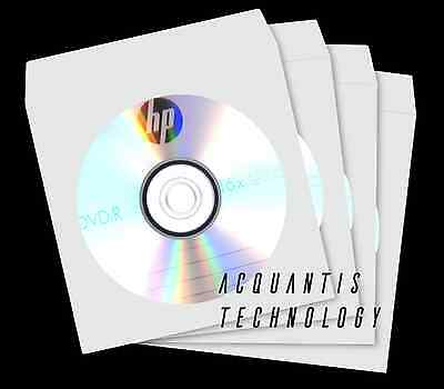 1000 Cd Dvd Paper Sleeve Clear Window Fold Over W Lock