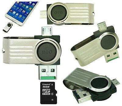 16GB 16 GB MicroSD HC Dual Micro USB to USB 2.0 OTG Flash Drive 4 Android Mobile