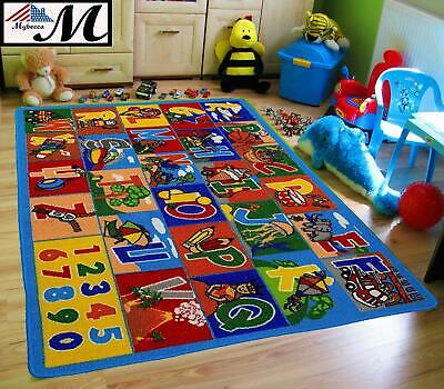 Large Classroom Rugs for Kids ABC Educational Area Rug Playtime Collection ABC1 Collection Contemporary Area Rugs