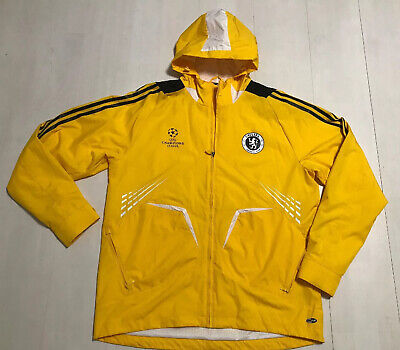 ADIDAS CHELSEA FOOTBALL CLUB CHAMPIONS LEAGUE YELLOW JACKET SIZE UK 46/48 IN VGC
