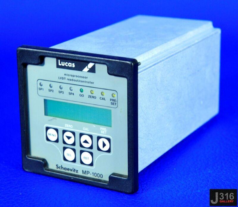 2110 LUCAS SCHAEVITZ MICROPROCESSOR LVDT READOUT/CONTROLLER MP-1000