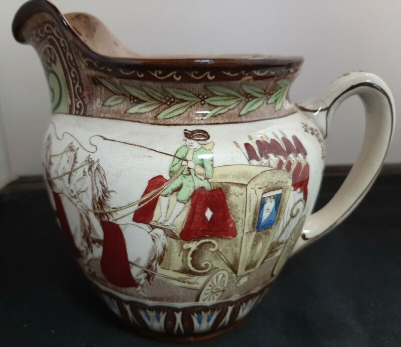 "Buffalo Pottery 1907 Semivitrous 6"" CINDERELLA pitcher - VERY RARE"