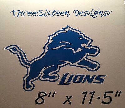 Detroit Lions Vinyl Decal 8
