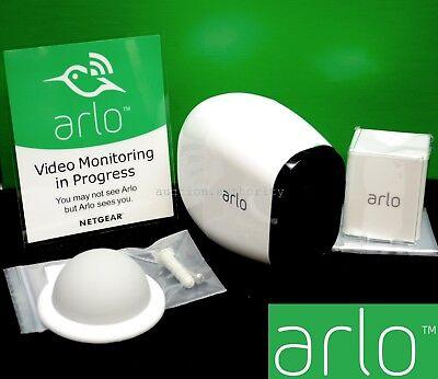 NEW ARLO PRO Netgear HD Add-On Security Camera Wire-Free Wireless White VMC4030