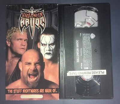 WCW Halloween Havoc '99 (VHS, 1999) STING GOLDBERG SID
