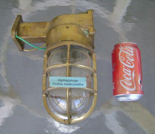 Vintage Brass Nautical Bulkhead Ship Light