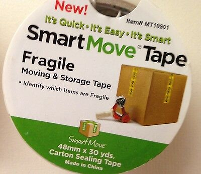 New Fragile Marked Tape Movingstoring Fragile Items 30 Yd Roll Fast Shipping