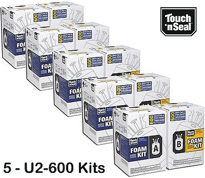 Touch N Seal U2-600 Spray Foam Insulation Kit Closed Cell3000 Bf-qty Of 5 Kits