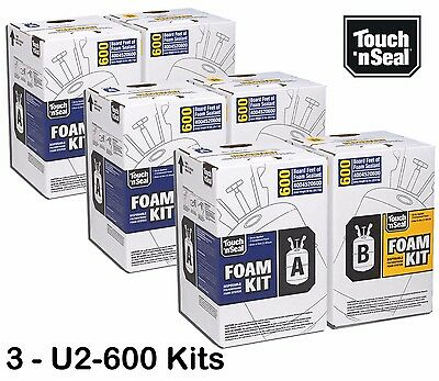 Touch N Seal 600bf Spray Foam Insulation Kit Closed Cell-standard Fr - Qty Of 3
