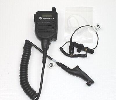 Motorola Hmn4104 Apx Speaker Mic W Rln6424 Rx-only Earpiece For Apx Models