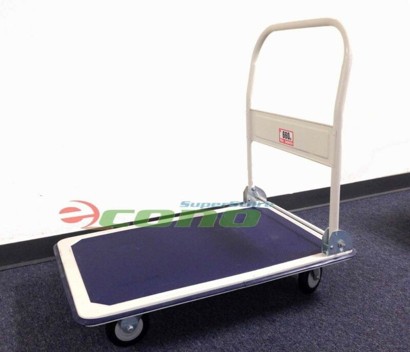 660lbs Platform Cart Dolly Hand Push Truck Folding Moving Warehouse Trolley