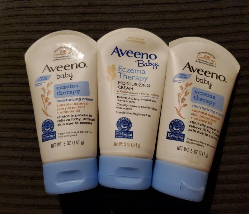 (3) Aveeno Baby Eczema Therapy Moisturizing Cream 5oz ~EXP: 7/22+