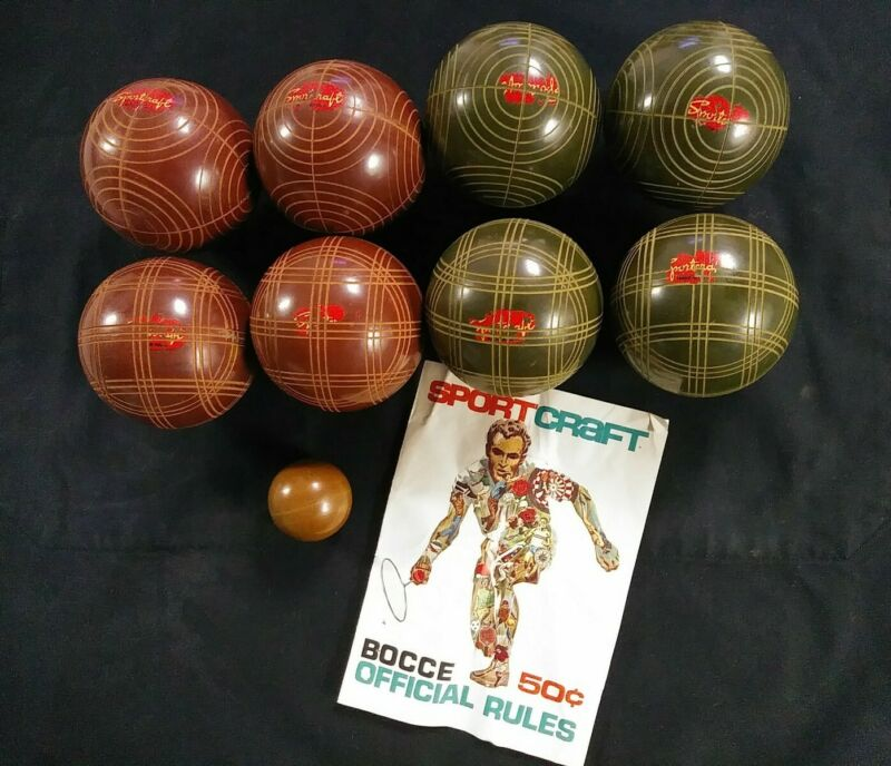 Older Sportcraft Bocce Ball set Made in Italy NOT REGULATION complete