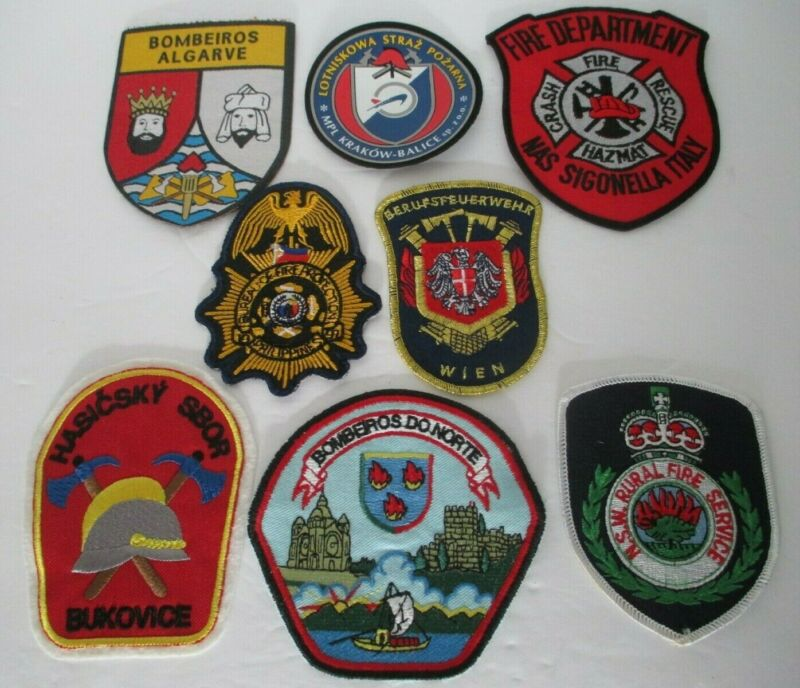 International Fireman Patches Lot Of 8 New Italy Poland Philippines And More