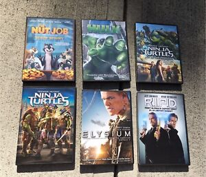 Six DVDs for sale! 6 for 30.00 or 6.00 Each