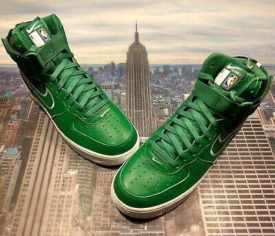 Nike iD Air Force 1 High Premium NBA Boston Celtics Mens Size 10 AQ3956 992 (Nba Celtics Basketball Shoe)
