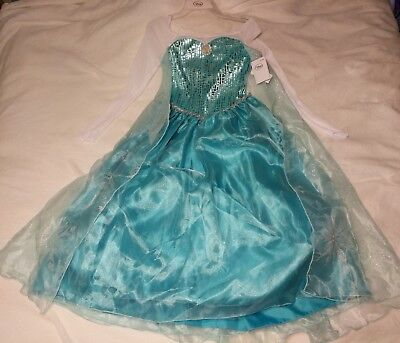 Beautiful Elsa Costume (NWT DISNEY FROZEN PRINCESS ELSA DRESS COSTUME BEAUTIFUL SIZE 9 / 10 LET IT)
