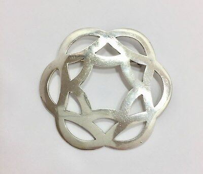 Large Vintage Taxco TR-78 Modernist Pin Brooch Sterling Silver 925 Mexico FMGE