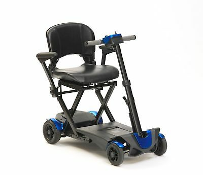 Drive Auto Folding 4 Wheel Mobility Scooter with Remote Control 4mph - Blue