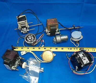 8 Small Vintage Electric Motors Synchronous Japan Servo Barber A.w. Haydon