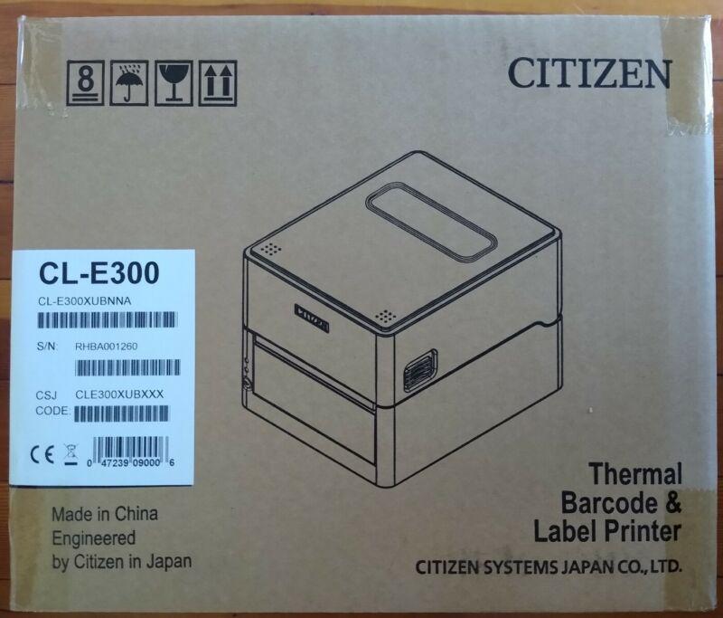 BRAND NEW Citizen CL-E300 Printer Direct Thermal Barcode And Label Printer