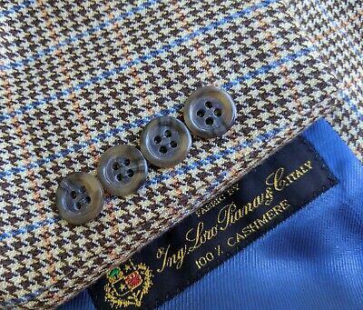 44S Jack Victor LORO PIANA CASHMERE orange Plaid Tweed Check Coat Blazer Jacket