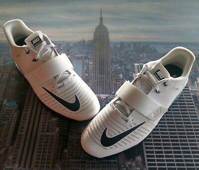 77e4e5d73b2d Nike Romaleos 3 White Black-Volt Weightlifting Shoes Size 13 852933 100 New