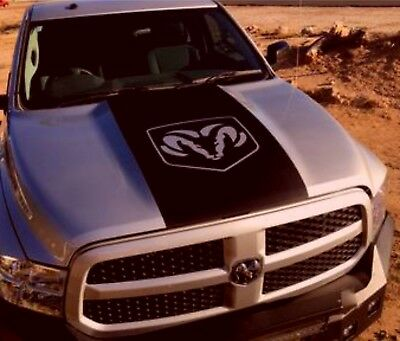 Dodge Ram 1500 Hemi Logo Hood Vinyl decal, racing stripe, Mopar Graphics 5.7L Rt for sale  Virginia Beach
