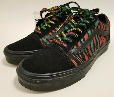 Vans A Tribe Called Quest Limited Old Skool Skate Shoes ATCQ Black Mens Sz 5 New