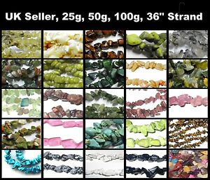 Gemstone-4-8mm-Chip-beads-25g-50g-100g-Strand-Approx-100-to-400-beads