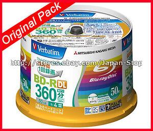 Genuine-Package-50-Verbatim-Bluray-50-GB-BD-R-DL-Dual-Layer-Printable-Blue-Ray