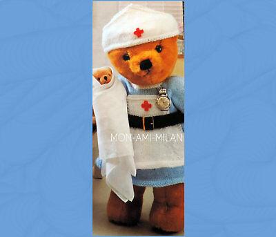 TEDDY BEAR NHS NURSES UNIFORM DRESS Knitting Pattern To Make TEDDY DOLLS CLOTHES