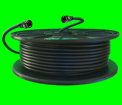 RG6 Quad PCT BNC Black indoor outdoor 100-300 CCTV CAMERA Network Video Cable  Black Rg6 Video Cable