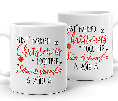 Personalized Mug Love Gift for Couple First Married Christmas Together With Name ()
