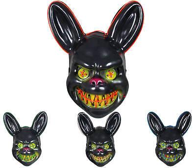 Purge Maske Halloween LED Horror Masken Karneval Fasching Böses  Kaninchen